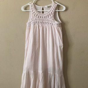 H&M Conscious Long Pink Gauze Dress